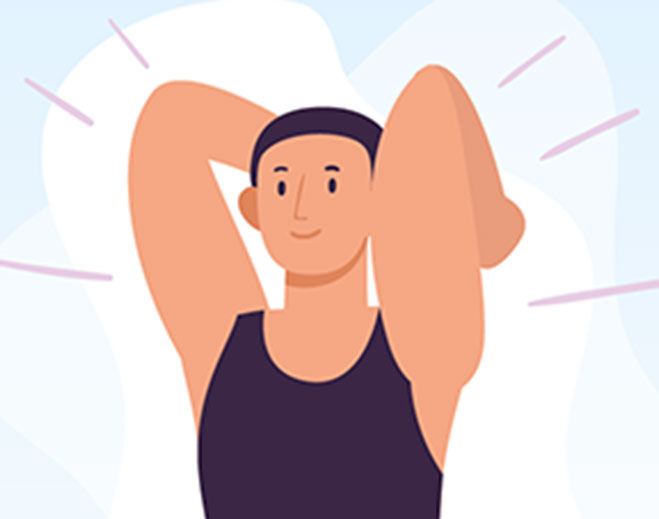 man stretching icon
